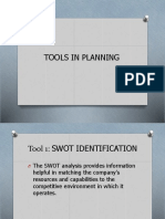 Tools in Planning