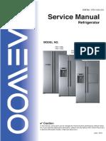 DAEWOO REFRIGERATOR Service Guide.