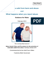 Keeping People Safe From Harm and Abuse English Easy Read