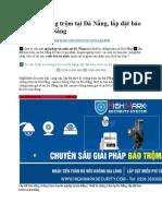 Thiết bị chống trộm tại Đà Nẵng, lắp đặt báo trộm tại Đà Nẵng