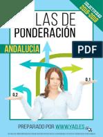 Ponderaciones 2018 Andalucia
