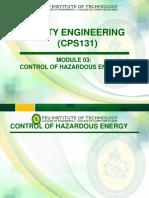 Cps131 Module 03 Control of Hazardous Energies