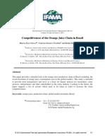 Competitiveness of the Orange Juice Chain in Brazi