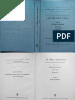 M. Tullius Cicero - De Divinatione; De Fato; Timaeus (Ed. Giomini, 1975)