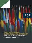 Lois diffamation Afrique liberté de publier