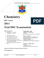 2013 Chemistry - Hurlstone With Solutions