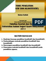 Kualitatif Kuantitatif 2013 Bahan Kuliah