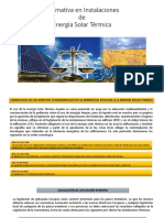 Normativa en Instalaciones de Energía Solar Térmica