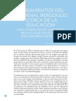 Prada, Ana L., 2013, Pensamiento Cardenal Bergoglio Acerca Educacion