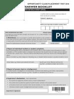 oc answer sheet