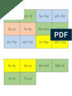 Memorice factorización