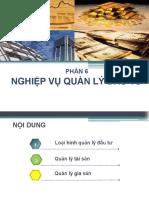 6. Nghiệp vụ Quản lý đầu tư