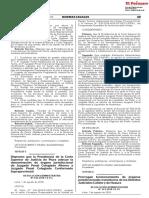 Prorrogan funcionamiento de órganos jurisdiccionales transitorios de los Distritos Judiciales Cañete y de Huaura
