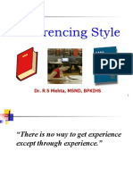 Referencing style
