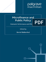 Microfinance and Public Policy Outreach Performance and Efficiency