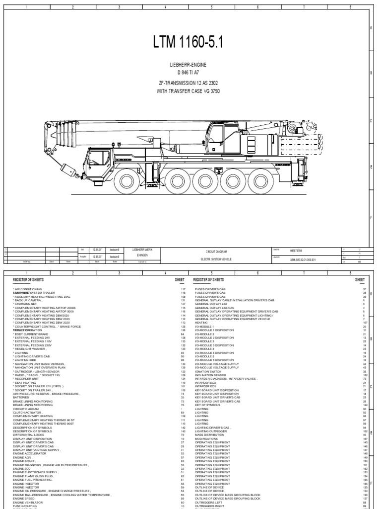 Libherr crane | Fuel Injection | Suspension (Vehicle) on