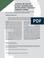 FREIRE, G. a - Tom Zé Considerações Sobre o Projeto Da Música Operária e o Disco Estudando o Samba