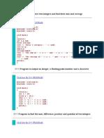 Program in c++