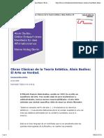 Divus | Obras Clásicas de la Teoría Estética. Alain Badiou