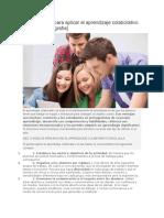 Diez Consejos Para Aplicar El Aprendizaje Colaborativo en El Aula