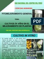 11. Cutivo in Vitro en Mejoramiento de Plantas