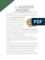 DEFINICIÓN DEPLANEACIÓN FINANCIERA