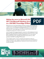 Making the move to Microsoft SQL Server 2017 and Microsoft Windows Server 2016 on a Dell EMC PowerEdge R740xd