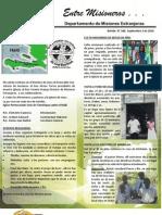 Boletin 180 Informe Misionero de Haiti - 2 Septiembre 2010