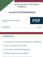Cours Fiscalité Inetrnationale ENCG 2015 2016 1ère Partie