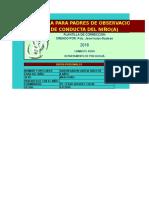 Escala de Observacion de Conducta Del Niño(a)