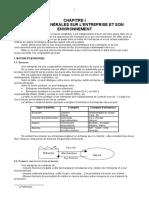 95312608 CH I Notions Generales Sur l Entreprise Et Son Environnement