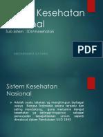 SDM Sistem Kesehatan Nasional