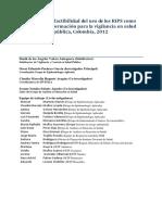 Viabilidad y Factibilidad de Uso de RIPS en Vigilancia en Salud Pública