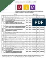 ADEM Readiness Assessment 2018