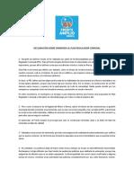 Declaración sobre Enmienda al Plan Regulador Comunal (PRC) de Renca