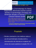 Neoadjuvant Chemotherapy for Newly Diagnosed, Advanced Ovarian Cancer Society of Gynecologic Oncology and American Society of Clinical Oncology Clinical Practice Guideline(1)