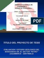 Proyecto de Tesis Manganeso