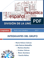 División de La Linguística