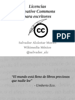 Licencias Creative Commons Para Escritores