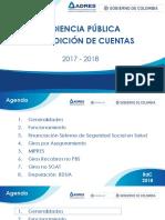 Audiencia Publica de Rendición de Cuentas - Adres 2018