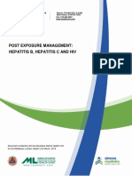 Post Exposure Management Hepatitis b Hepatitis c and Hiv