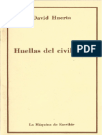 Huellas Del Civilizado David Huerta