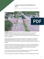 09-08-2018 Claudia Pavlovich Dispone Apoyo Para Habitantes de Guaymas y Empalme
