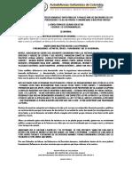 Amenazas en Contra de Todos Los Sindicalistas de La Azonal y Lideres SOCIAles Cuidense Mucho