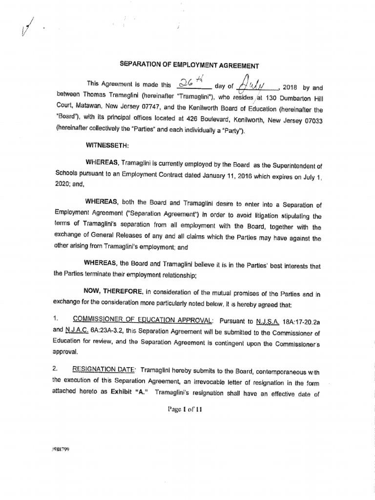 Tramaglini separation agreement thecheapjerseys Gallery