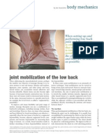 Joint Mobilization of the Low Back - WI 09