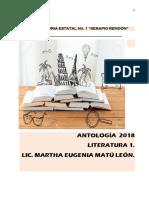 Guía de Literatura 1. Bachillerato. Preparatorias Estatales. Bloque 1.