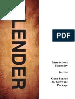 Blender Instructions Summary