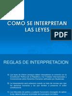 INTERPRETACION DE LAS LEYES