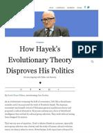 Bowles 2017 (Evonomics Interview) How Hayek's Evolutionary Theory Disproves His Politics